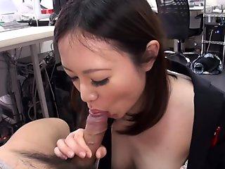 Cute brunette Ritsuko Tachibana swallows a boner i