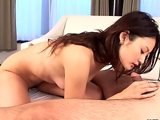 Three cocks blasting Risa's wet pussy with delight