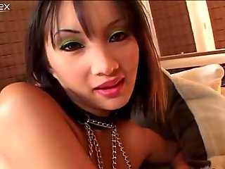 Astonishing brunette is skillful enough to make two guys wild and horny