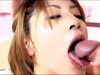 Kinky Schoolgirl masturbates while sucking dick
