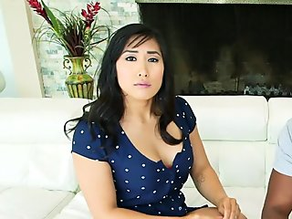 Sweet asian moans for black dick in her pussy